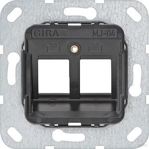 Gira 560400 Modular Jack 4 2fach Tragring