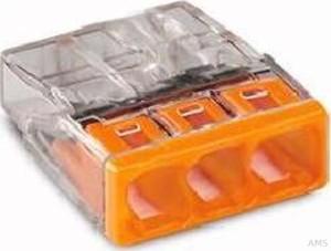 WAGO Verbindungsdosenklemme 3x 0.5-2.5 orange 2273-203 (100 Stück)