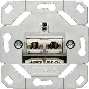 Gira 245200 Netzwerkdose 2fach Cat.6A IEEE 802.3an Einsatz