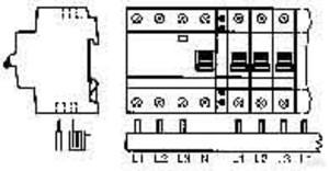 ABB Stotz Sammelschiene zum ablängen PS 3/12 FI H
