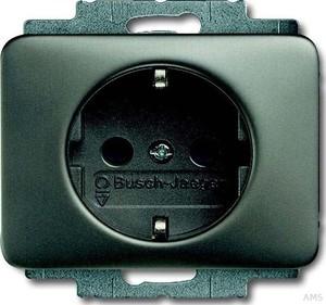 Busch-Jaeger Steckdosen-Einsatz Platin mit Steckanschluss 20 EUC-20