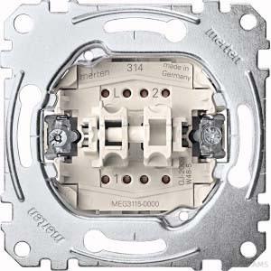 Merten Serienschalter-Einsatz 1-polig 10AX 250V AC MEG3115-0000