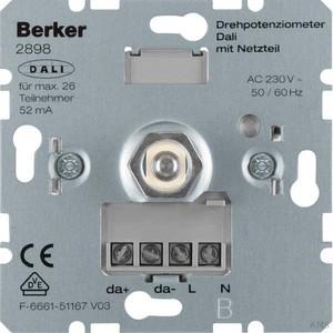 Berker Drehpotenziometer DALI mit integr. Netzgerät 2898