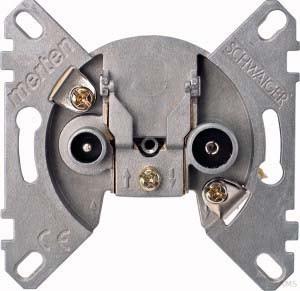 Merten Antennenstichdose BK/Sat 2-fach 466099