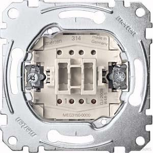 Merten Taster-Einsatz 1W 1S 1-polig 10A 250V MEG3150-0000