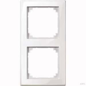 Merten Rahmen 2-fach polarweiß/glänzend waage/senkrecht 478219
