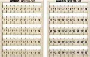 WAGO WSB-Bezeichnungssystem W: 1-50(2x) 209-566