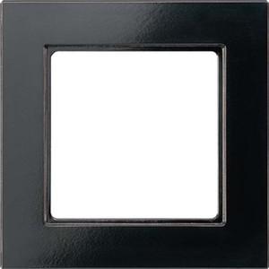 Jung Rahmen 1-fach schwarz waage/senkrecht AC 581 SW
