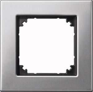 Merten Metallrahmen 1-fach pla/si 475160