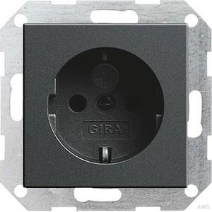 Gira 045328 SCHUKO Steckdose mit Kinderschutz System 55 Anthrazit