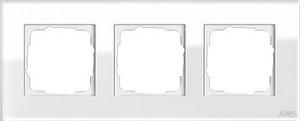 Gira 021312 Abdeckrahmen 3fach Esprit Glas Weiß