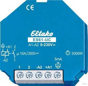 Eltako Stromstoßschalter 8-230VUC,1S,16A ES61-8.. 230V UC