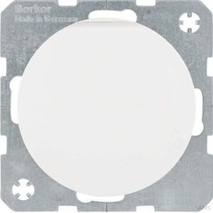Berker SCHUKO-Steckdose pows/glänzend mit Klappdeckel 47512089