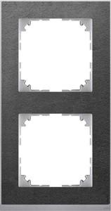 Merten Decor-Rahmen 2-fach Schiefer/aluminium MEG4020-3669