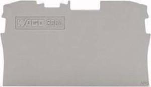 WAGO Abschluss-/Zwischenplatte grau 2004-1291