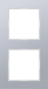 Jung Rahmen 2-fach aluminium waage/senkrecht AC 582 AL