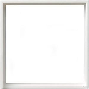 Gira 028203 Adapterrahmen 50x50 quadratisch System 55 Reinweiß glänzend
