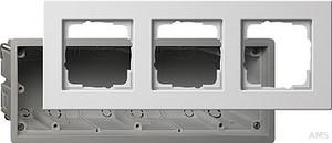Gira 2883201 Einbauset Gerätedose mit Rahmen 3fach E22 Reinweiß