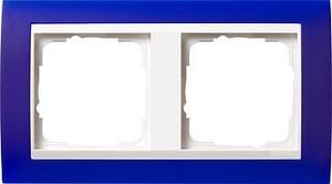 Gira 0212399 Abdeckrahmen 2fach für reinweiß Event Opak Blau glänzend