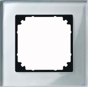 Merten Rahmen Glas 1-fach diamantsilber 489160