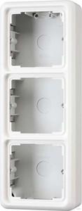Jung AP-Kappe 3-fach alpinweiß (aws) angeformter Rahmen CD 583 A WW