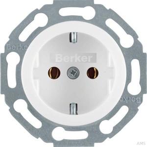 Berker Steckdose polarweiß/glänzend 1-fach 414520