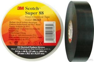 3M PVC Elektro-Isolierband 19mm x20m schwarz ScotchSuper88 19x20