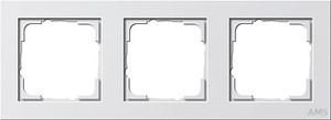 Gira 021322 Abdeckrahmen 3fach E2 Reinweiß matt