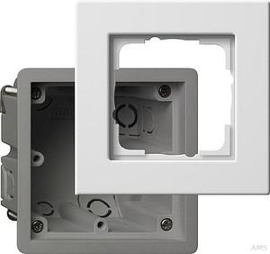 Gira 2881201 Einbauset Gerätedose mit Rahmen 1fach E22 Reinweiß