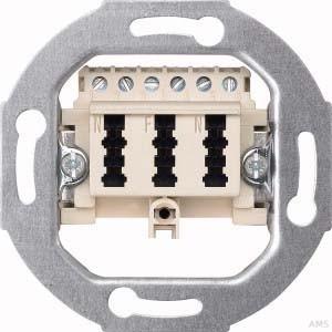 Merten TAE-Anschlussdose 3-fach cremeweiß (ws) 3x6 NFN 465236