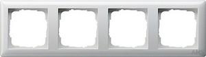 Gira 021403 Abdeckrahmen 4fach Standard 55 Reinweiß glänzend