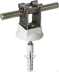 Dehn+Söhne Leitungshalter NIRO für Rd 8mm H 20mm 207 109