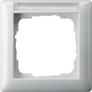 Gira 109103 Abdeckrahmen 1fach mit Beschriftungsfeld Standard 55 Reinweiß glänzend