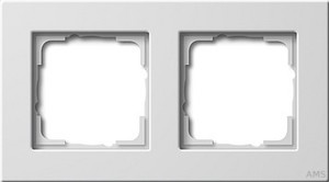 Gira 0212204 Abdeckrahmen 2fach flache Montageart E22 Reinweiß glänzend