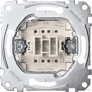 Merten Kreuzschalter-Einsatz 1-polig 10AX 250V AC MEG3117-0000