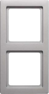 Berker Rahmen 2-fach aluminium lack 10126084