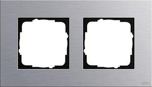 Gira 021217 Abdeckrahmen 2fach Esprit Aluminium