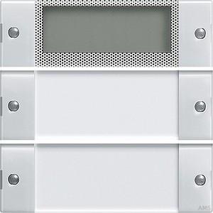 Gira 214203 Wippenset 2fach Plus mit Beschriftungsfeld System 55 Klar Reinweiß glänzend