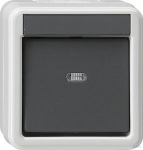 Gira 010630 Wippschalter Wechsel wassergeschützt Aufputz Grau