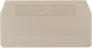 Weidmüller Abschlußplatte 59,5x2x30,5mm ZAP/TW 1