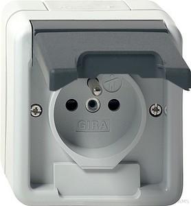 gira 010630 wippschalter wechsel wassergesch tzt aufputz grau. Black Bedroom Furniture Sets. Home Design Ideas