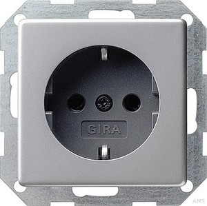 Gira 0188203 SCHUKO Steckdose E22 Aluminium glänzend