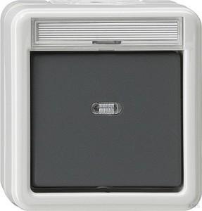 Gira 011230 Wippschalter Aus 2-polig Kontroll wassergeschützt Aufputz Grau