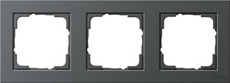 gira 021323 abdeckrahmen 3fach e2 anthrazit. Black Bedroom Furniture Sets. Home Design Ideas
