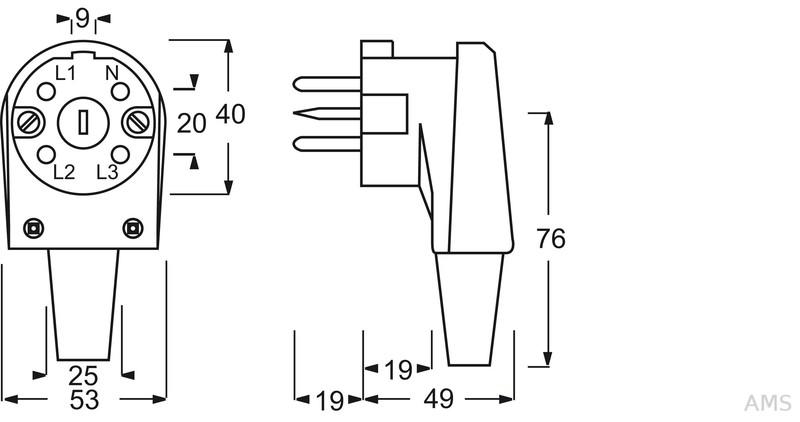 Busch-Jaeger Perilex-Steckdose 16A grau AP PVC 2064 AG