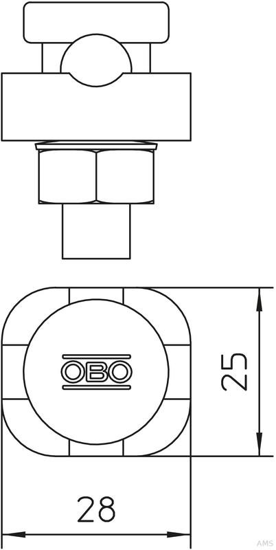 OBO Bettermann Verbinder 1teilig,Form A 5001 DIN-FT