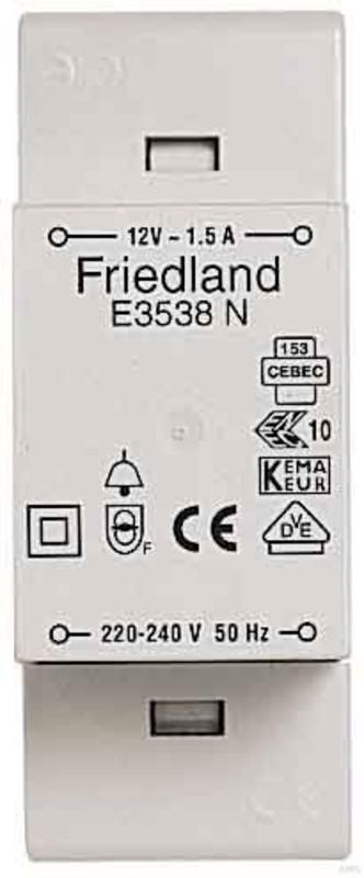 FRIED E3538N - Friedland Klingeltransformator, 12V 1,5A