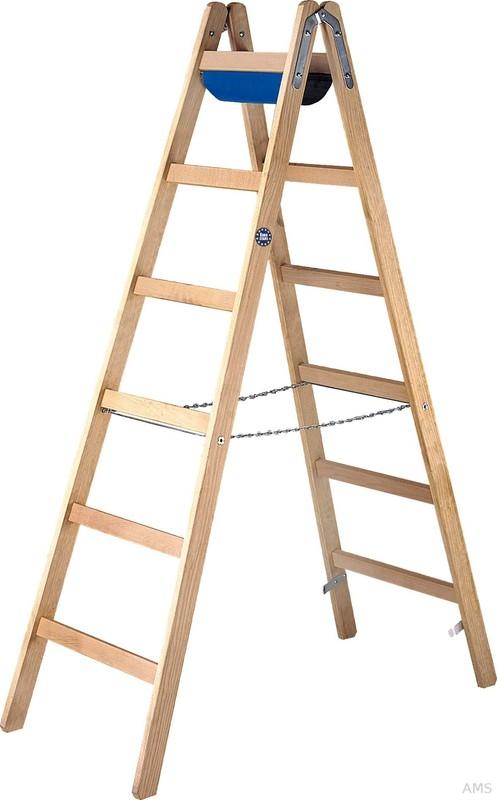 Hervorragend ILLER-LEITER Holz-Sprossenstehleiter 2x12 Sprossen 51112 XP17