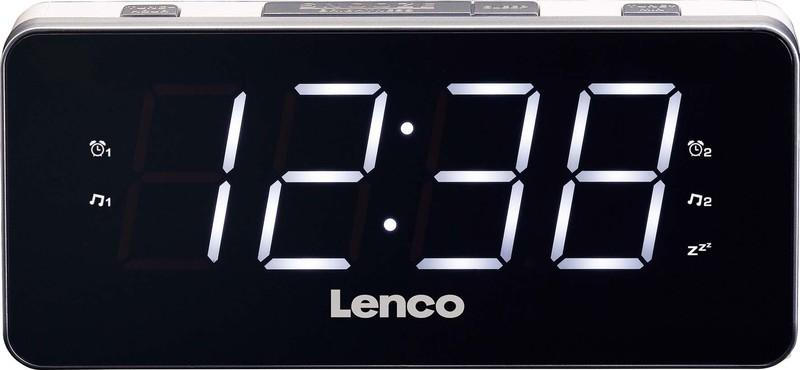 Uhrenradio mit Wecker und USB-Ladekabel