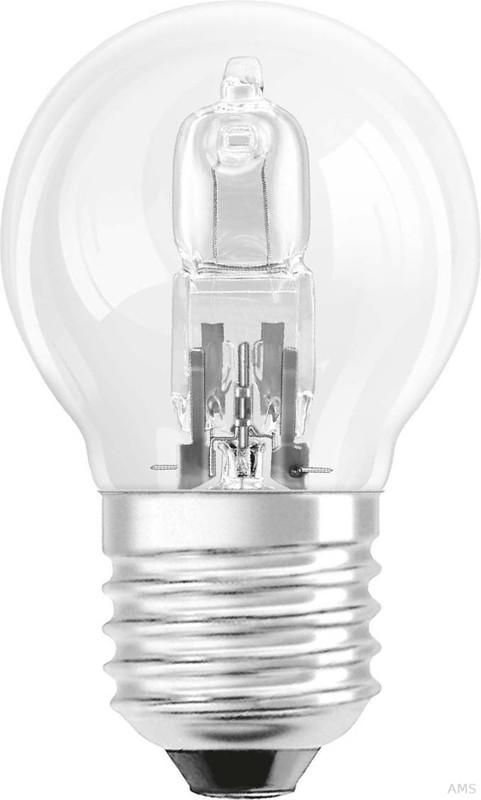 OSRAM Halogen-Glühlampe Halogen Energy Saver Classic P warmweiß Tropfenform E27 18 W entspricht herkömmlichen 20 W